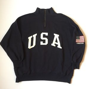 Vintage USA spellout Sweater Xl 1/4 zip up